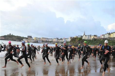 Mass swim starts are an Ironman tradition, but something very new to me.