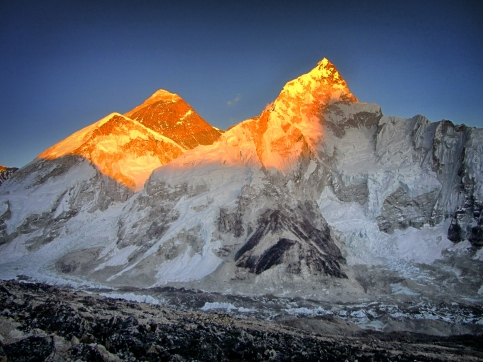 Sunset on Everest, not just a 2012 highlight, but a life highlight.