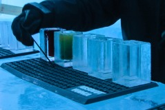 One of the oldest and most innovative features of the Ice Hotel: ice glasses.