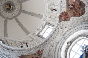 The ceiling of Vilnius Cathedral.