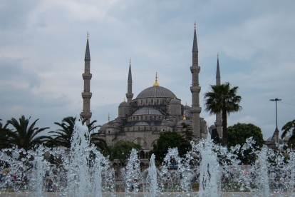 The spectacular Sultan Ahmed Mosque.  Just one of the many awe inspiring mosques in Istanbul.