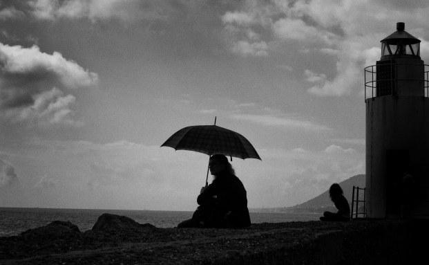 Solitary Umbrella